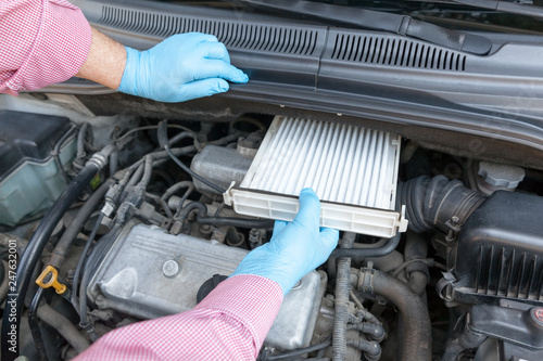 mata magnetyczna Replacing the cabin pollen air filter for a car