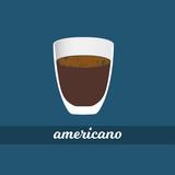 americano coffee cup vector illustration
