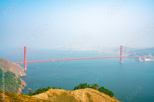 Beautiful Golden Gate view in San Francisco.