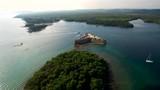 Croatia, Sea, Adriatic Sea, Castle, Fortress, Fortress at Sea, Ships, Nature, Sun, Tower, Sea Tower, Historical Buildings, Historical Buildings at Sea, Šibenik,