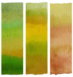 Abstract gradient hand painted watercolor pattern gradient background - 247663679