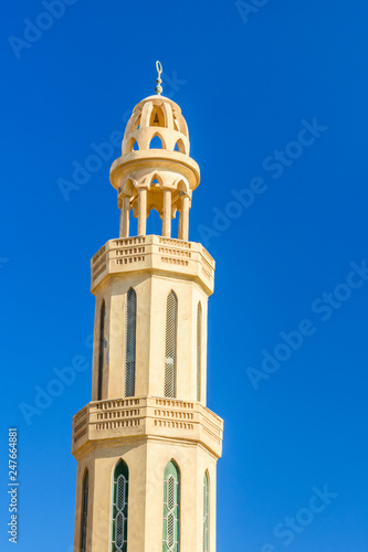 Minaret of the mosque in Hurghada city, Egypt