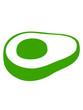 seitliche perspektive avocado clipart obst gemüse lecker hunger gesund comic cartoon ernährung gesund stein kochen essen design logo symbol