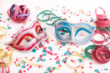 venetian masks with confetti - 247674454