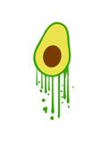 graffiti tropfen stempel avocado clipart obst gemüse lecker hunger gesund comic cartoon ernährung gesund stein kochen essen design logo symbol