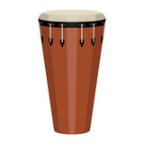Isolated conga image. Musical instrument. Vector illustration design