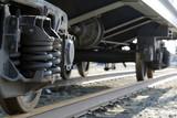 Wheel and railway carriage mechanisms. Brake shoe.
