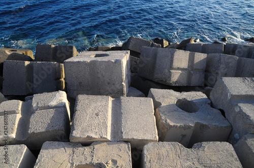 Cubes of Cement Breakwater © underworld