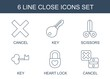 close icons