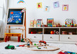 Interior design of a kindergarten classroom - 247708088