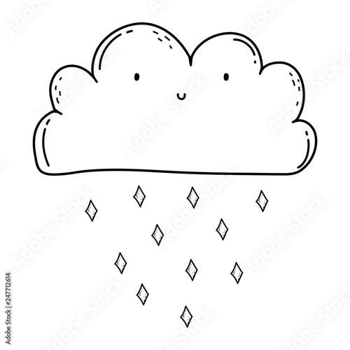 cute cloud kawaii character - 247712614