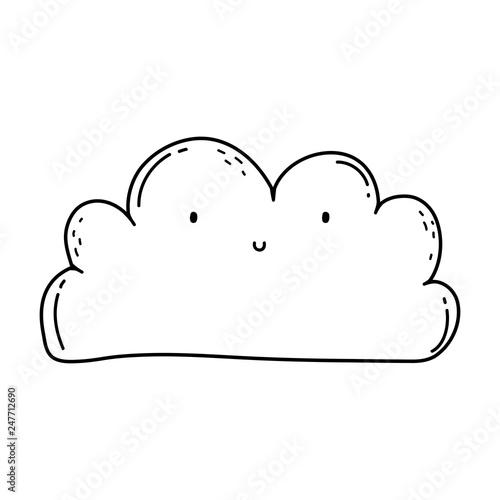 cute cloud kawaii character - 247712690
