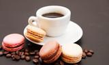 café et macarons pause café