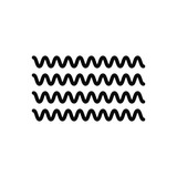 Black solid icon for flow  - 247720441