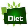 Diet Leaves Circular Squares Text