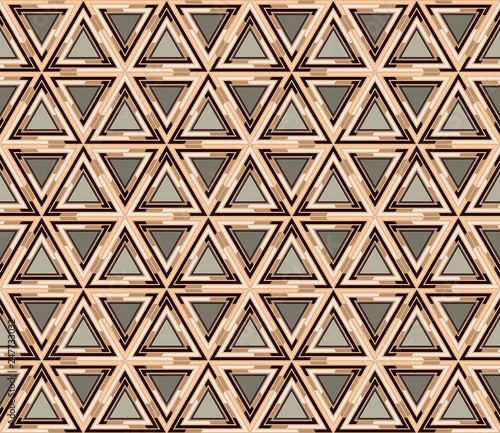 fototapeta na ścianę Geometrical seamless pattern consisting of triangular elements. Useful as design element for texture and artistic compositions.