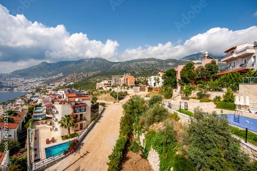 Kalkan, Kas - Turkey. May 10, 2018. A city view from Kalkan. - 247735235