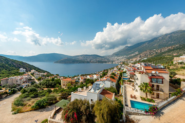 Kalkan, Kas - Turkey. May 10, 2018. A city view from Kalkan. © enderbayindir