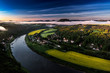 Leinwanddruck Bild - Bastei bei Rathen, Blick auf den Lilienstein, Nationalpark Saechsische Schweiz, Elbsandsteingebirge, Sachsen, Deutschland