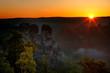 Leinwanddruck Bild - Bastei bei Rathen, Nationalpark Saechsische Schweiz, Elbsandsteingebirge, Sachsen, Deutschland