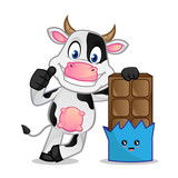Cow and a chocolate - 247744238