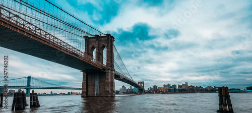 New York City, is a picture of the top of one of the beautiful towers - 247746202