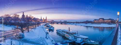 Dresden Winter Panorama - 247755699