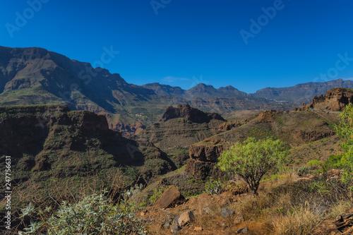Canary islands gran canaria sunny day