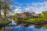 Typical dutch village Giethoorn in Netherlands - 247761040