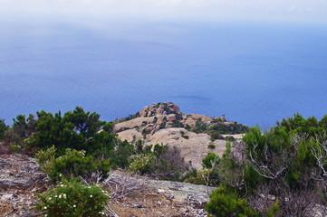 Coastline of Montecristo Island, Tuscany, Italy © sansa55