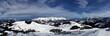 Leinwanddruck Bild - Panorama des wilden Kaiser in Österreich