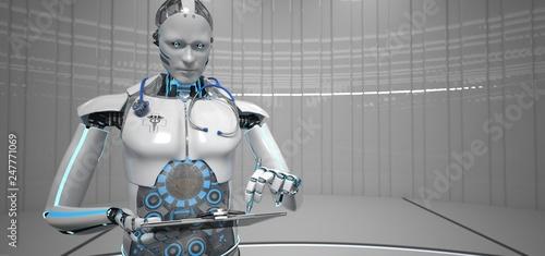 Humanoider Roboter als medizinischer Assistent - 247771069