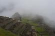 Cloudy morning at Machu Picchu
