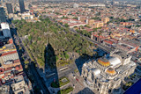 Mexico city arts palace aerial view - 247791674