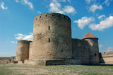 Fortress towers of the medieval ackerman fortress. Belgorod Dnestrovsky, Odessa region, Ukraine - 247794261