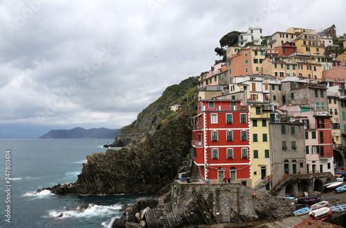 Riomaggiore, one of the Cinque Terre villages, UNESCO World Heritage Sites, Italy