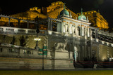 Buda Castle  in Budapest at night. Hungary - 247809453
