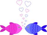 Рыбы  fish влюбленные love