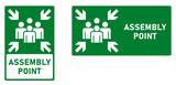 Assembly / meeting point icon. Vertical and horizontal version. - 247827268