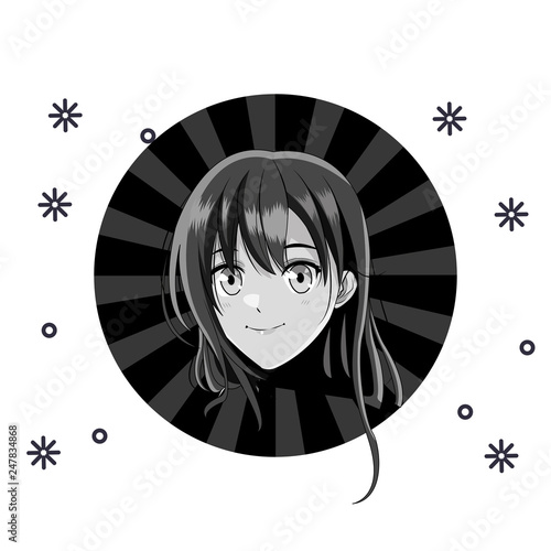 manga anime young woman - 247834868
