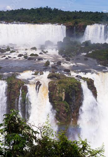 Waterfall Cataratas del Iguazu on Iguazu River, Brazil - 247838459