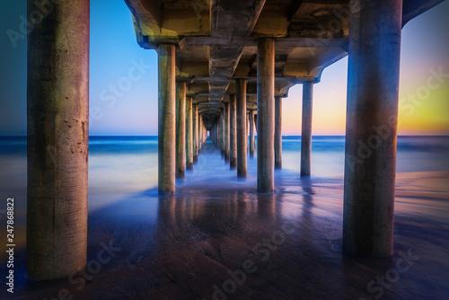 Art Pier Huntington beach with long exposure, california © emotionpicture