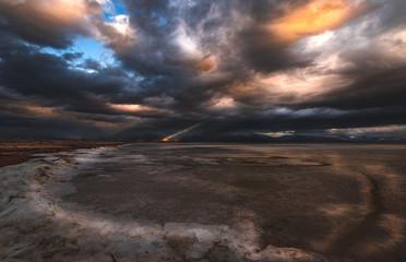 Sunset at Great Salt Lake © Jami