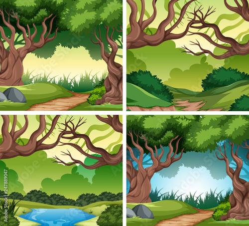 Set of nater landscape - 247889047