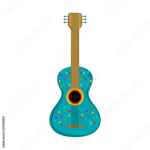 Isolated cute guitar image. Vector illustration design