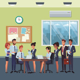 executive business coworkers cartoon - 247894607
