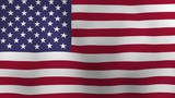 Flag of the United States waving in the wind - 247898023