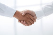 Leinwanddruck Bild - close up.handshake of business people on a light background