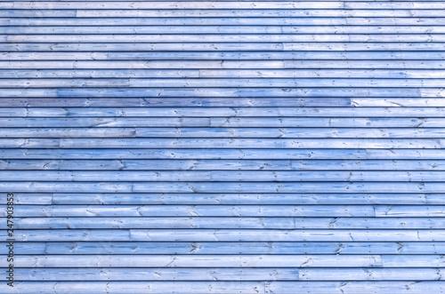 Bardage bois bleu  - 247903853