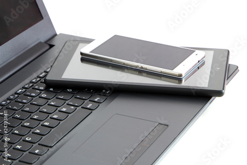 fototapeta na ścianę electronic devices, with copy-space